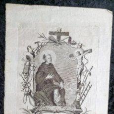 Arte: GRABADO SAN PEREGRIN LACIOSO - DEL ORDEN DE SIERVOS DE MARIA. Lote 254327360