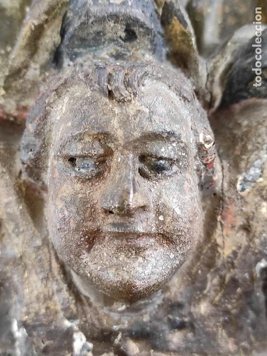 Arte: Virgen Purísima - Talla Popular en Madera de Encina Policromada - Escuela Catalana - S. XVII - Foto 3 - 254490140