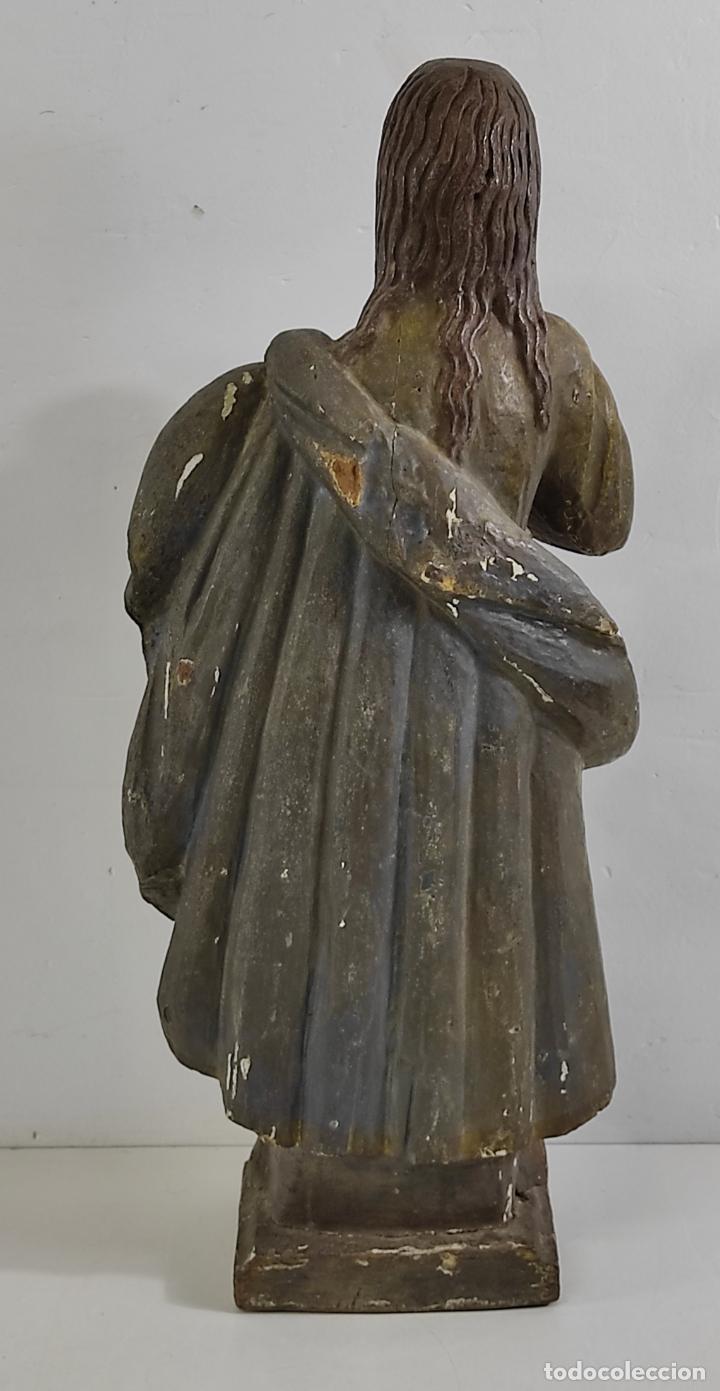 Arte: Virgen Purísima - Talla Popular en Madera de Encina Policromada - Escuela Catalana - S. XVII - Foto 10 - 254490140