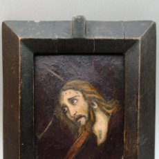 Arte: MINIATURA RELIGIOSA. ÓLEO SOBRE TABLEX MITAD DE SIGLO XX. Lote 254534975