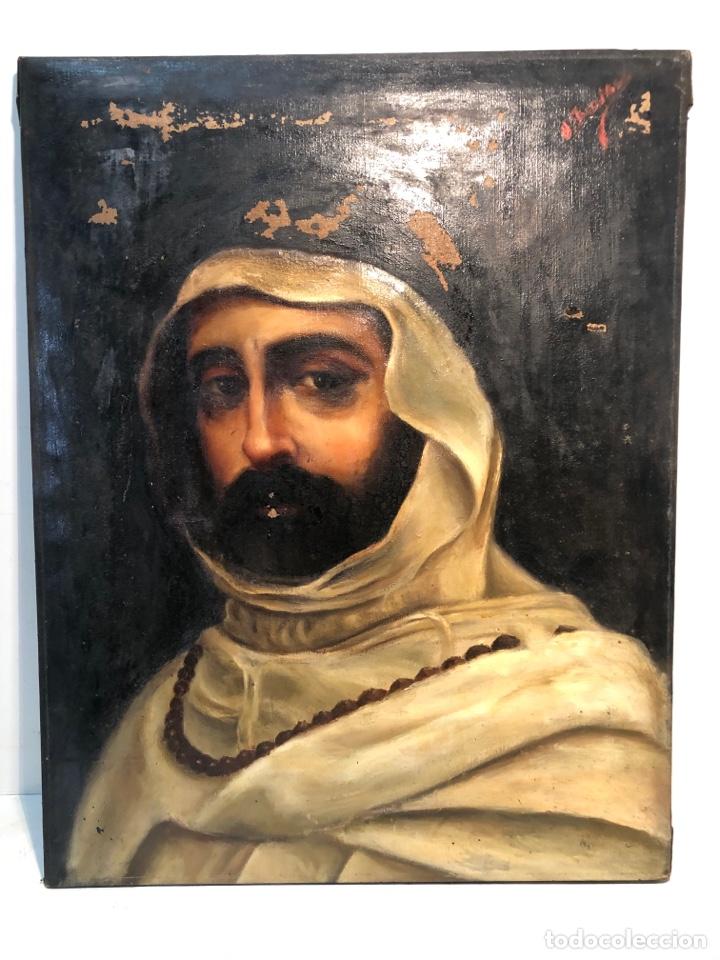 OLEO SOBRE TELA ANTIGUO PARA RESTAURAR FIRMADO. 54 X 42,5. (Arte - Arte Religioso - Pintura Religiosa - Oleo)