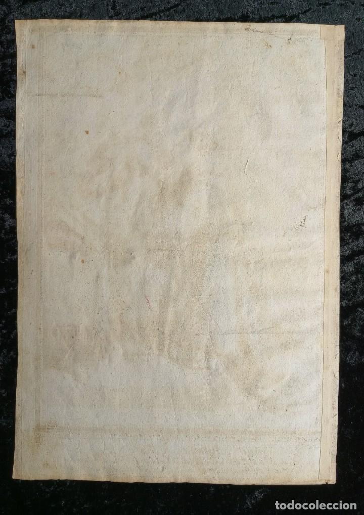 Arte: GRABADO COLOR - SAN ANTONIO DE PADUA - TROUVAIN - ¿siglo xvii? - Foto 4 - 254598655