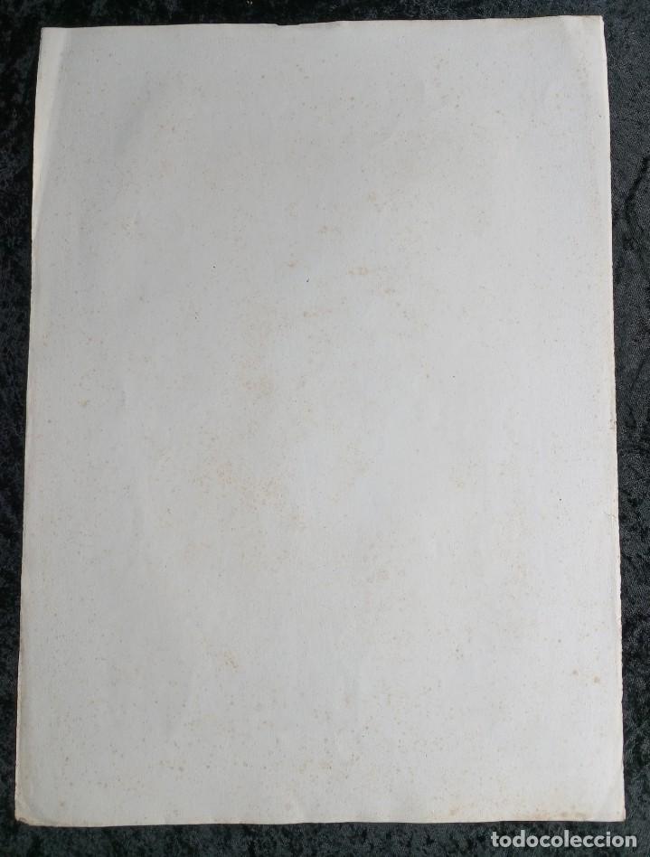 Arte: GRABADO LITOGRAFICO SANTA LUCIA circa 1825 - 44x32cm - Foto 4 - 254874045