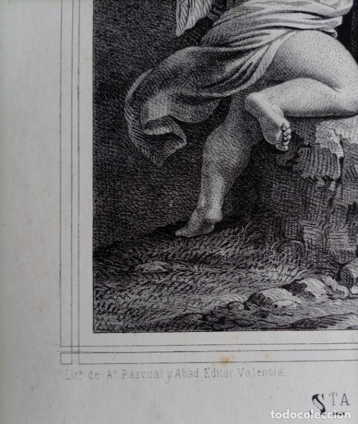 Arte: GRABADO LITOGRAFICO SANTA LUCIA circa 1825 - 44x32cm - Foto 5 - 254874045