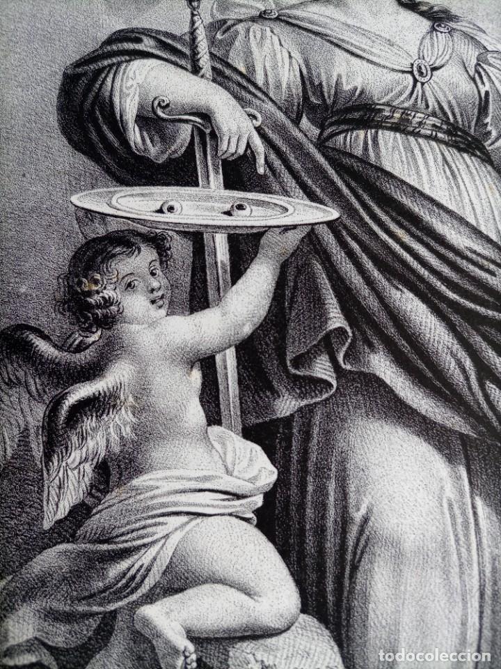 Arte: GRABADO LITOGRAFICO SANTA LUCIA circa 1825 - 44x32cm - Foto 6 - 254874045