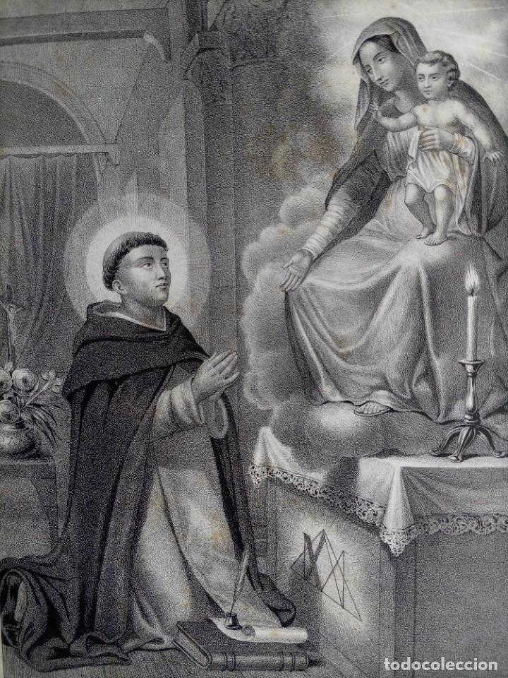 GRABADO LITOGRAFICO SAN JACINTO CONFESOR - PREDICADORES - POLONIA - CIRCA 1825 - 43,5X32CM (Arte - Arte Religioso - Grabados)