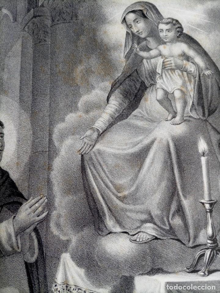Arte: GRABADO LITOGRAFICO SAN JACINTO CONFESOR - PREDICADORES - POLONIA - circa 1825 - 43,5x32cm - Foto 4 - 254876805