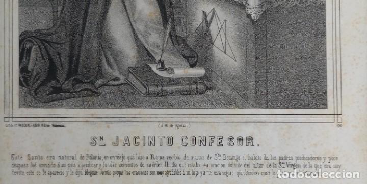 Arte: GRABADO LITOGRAFICO SAN JACINTO CONFESOR - PREDICADORES - POLONIA - circa 1825 - 43,5x32cm - Foto 7 - 254876805