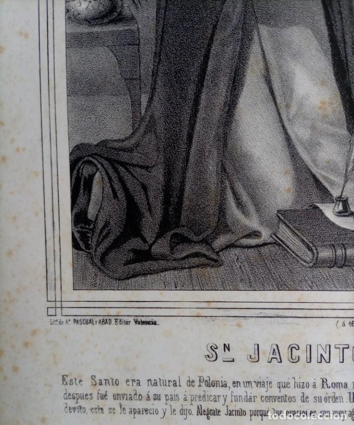 Arte: GRABADO LITOGRAFICO SAN JACINTO CONFESOR - PREDICADORES - POLONIA - circa 1825 - 43,5x32cm - Foto 8 - 254876805