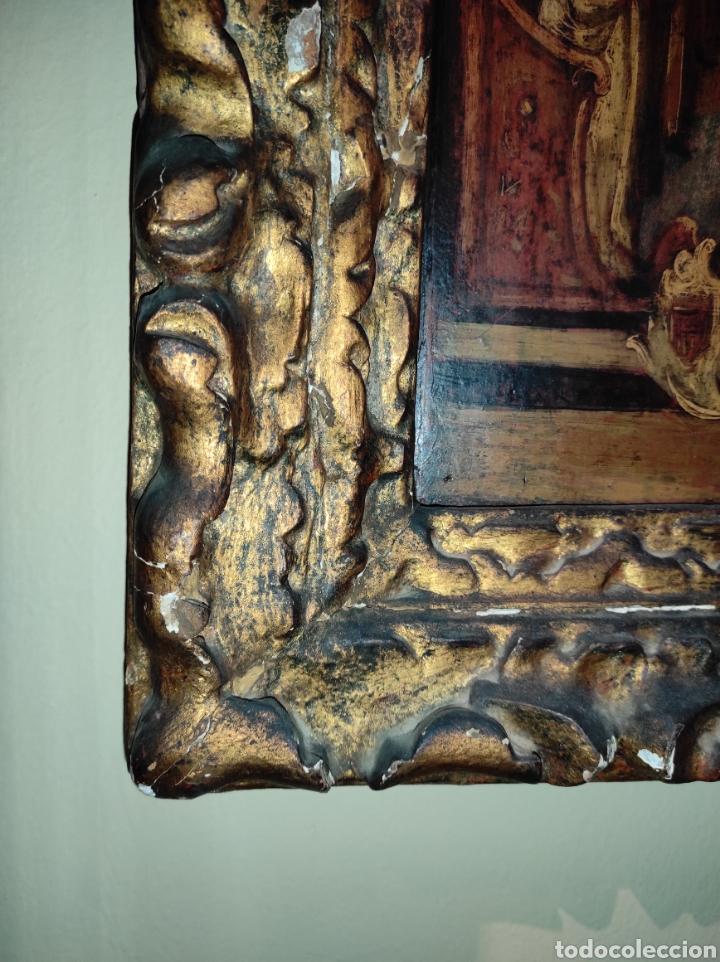 Arte: Oleo Sobre Tabla Monjes - Ángeles Orando - Finales del siglo XVII - Principios del XVIII - - Foto 10 - 254897300