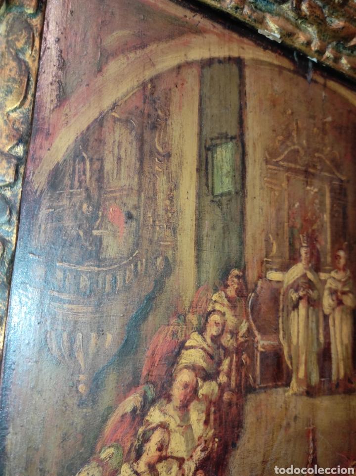 Arte: Oleo Sobre Tabla Monjes - Ángeles Orando - Finales del siglo XVII - Principios del XVIII - - Foto 17 - 254897300
