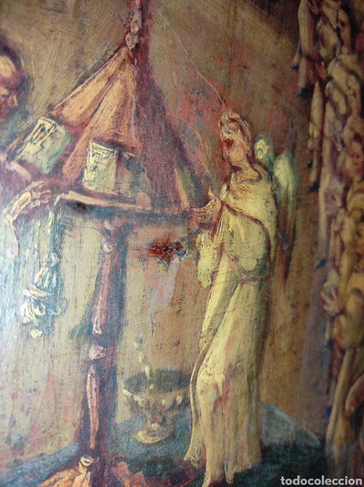 Arte: Oleo Sobre Tabla Monjes - Ángeles Orando - Finales del siglo XVII - Principios del XVIII - - Foto 21 - 254897300
