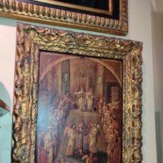 Arte: OLEO SOBRE TABLA MONJES - ÁNGELES ORANDO - FINALES DEL SIGLO XVII - PRINCIPIOS DEL XVIII -. Lote 254897300