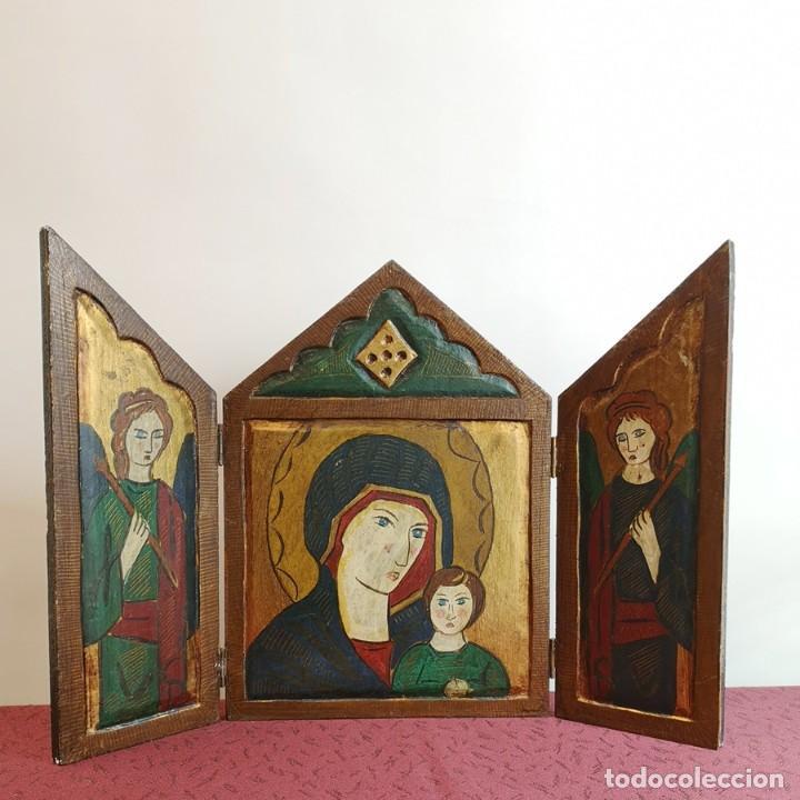 TRÍPTICO ESTILO ROMÁNICO (Arte - Arte Religioso - Trípticos)