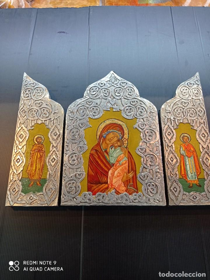 TRÍPTICO ICONO RUSO (Arte - Arte Religioso - Iconos)