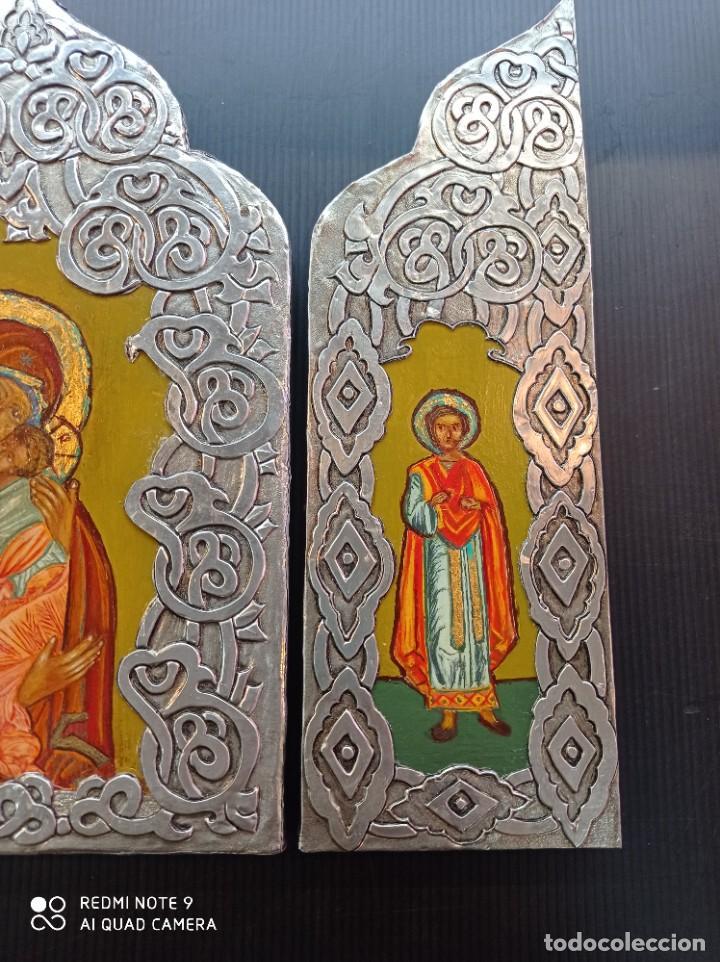 Arte: Tríptico icono Ruso - Foto 2 - 255004745