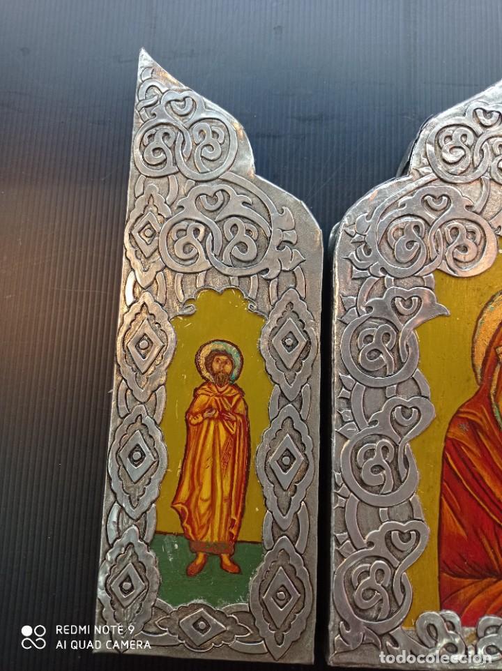 Arte: Tríptico icono Ruso - Foto 4 - 255004745