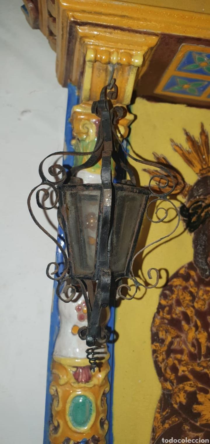 Arte: Antiguo Retablo Cerámico Jesús Del Gran Poder - Foto 15 - 139098413