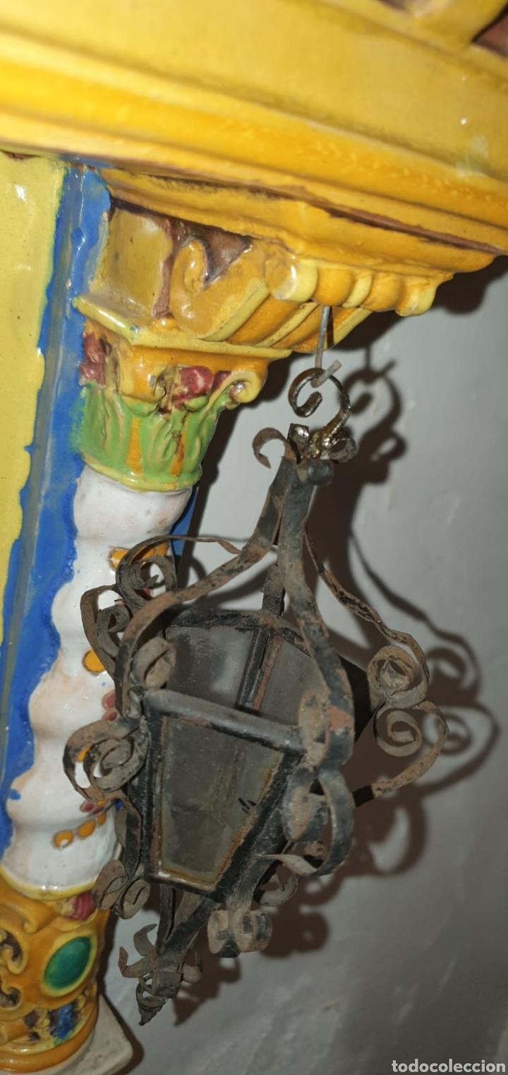 Arte: Antiguo Retablo Cerámico Jesús Del Gran Poder - Foto 17 - 139098413