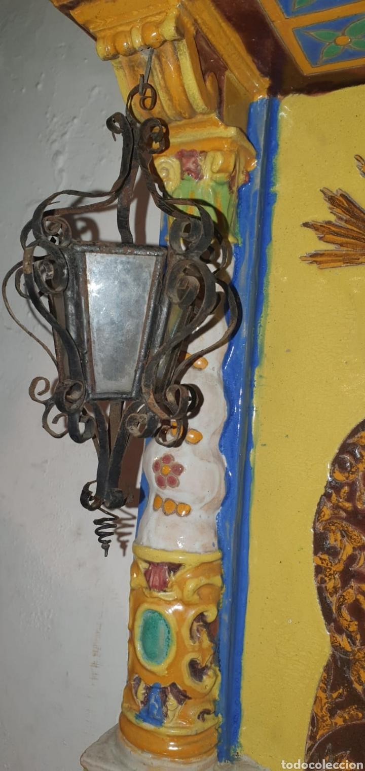 Arte: Antiguo Retablo Cerámico Jesús Del Gran Poder - Foto 18 - 139098413
