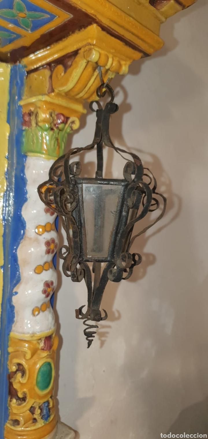 Arte: Antiguo Retablo Cerámico Jesús Del Gran Poder - Foto 19 - 139098413