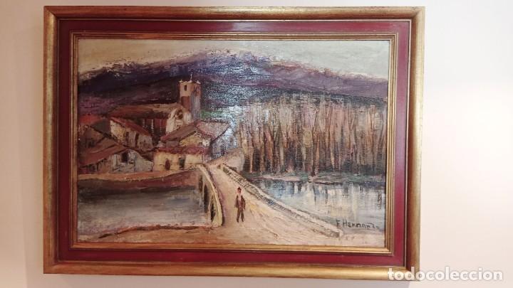 OLEO SOBRE TELA FLORENTINO HERNANDO, CAMPASPERO (Arte - Arte Religioso - Pintura Religiosa - Oleo)