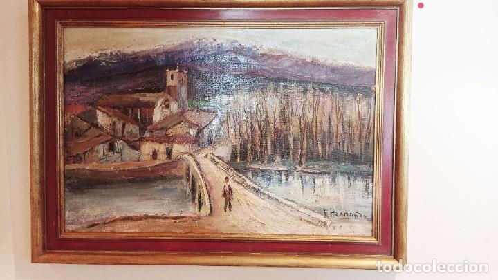 Arte: OLEO SOBRE TELA FLORENTINO HERNANDO, CAMPASPERO - Foto 5 - 256019295