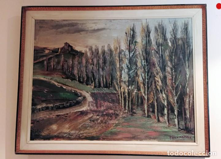 OLEO SOBRE TELA FLORENTINO HERNANDO, CAMPASPERO, 2 (Arte - Arte Religioso - Pintura Religiosa - Oleo)