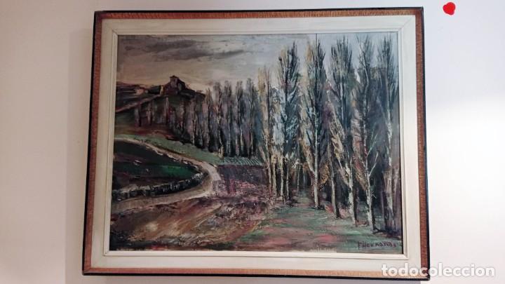 Arte: OLEO SOBRE TELA FLORENTINO HERNANDO, CAMPASPERO, 2 - Foto 5 - 256020440