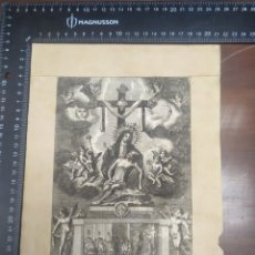 Arte: GRABADO DEVOTA Y MILAGROSA IMAGEN DE MARÍA DE LOS DOLORES , HOSPITAL LA CARIDAD CARTAGENA ,ROCAFORE. Lote 256132880