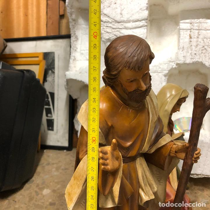 Arte: Pesebre de escayola, figuras Belén siglo XX. Ver fotos. - Foto 15 - 256136075