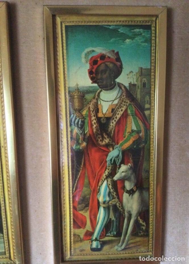 Arte: Tríptico La Adoración de los Reyes Magos de Joos Van Cleve. Serigrafía Sobre Plancha de Metal - Foto 7 - 256137715