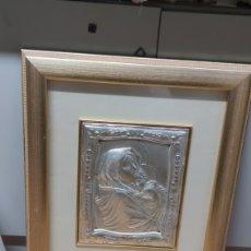 Arte: CUADRO VIRGEN CON EL NIÑO PLATA 925 EXCLUSIVAS ITALIANAS. Lote 256222430
