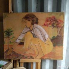 Arte: PINTURA SOBRE TABLA MARINA. Lote 257289350