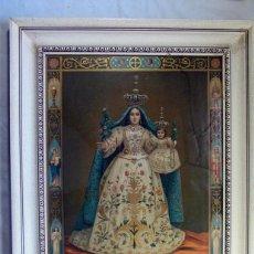 Arte: ANTIGUA LITOGRAFIA DE VIRGEN CON NIÑO. MADONNA DI CANNETO DI SETTEFRATI.. Lote 257305945