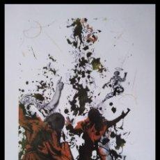 Arte: INTERESANTE LITOGRAFIA DE SALVADOR DALI DE LA BIBLIA SACRA EDICION LIMITADA MARCO INCLUIDO. Lote 257412710