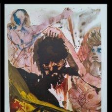 Arte: INTERESANTE LITOGRAFIA DE SALVADOR DALI DE LA BIBLIA SACRA EDICION LIMITADA MARCO INCLUIDO. Lote 257414280