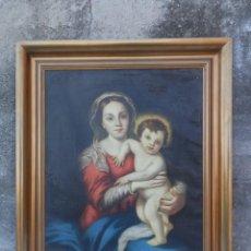 Arte: ÓLEO SOBRE LIENZO. VIRGEN CON NIÑO JESÚS. SIN FIRMA.. Lote 257476285