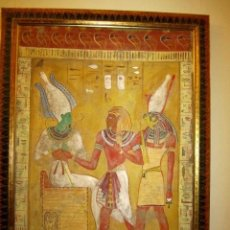 Arte: PINTURA AL FRESCO, TEMATICA EGIPCIA ALTO 145CM ANCHO 110CM. Lote 257487825