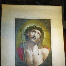 Arte: ECCE HOMO - JESUCRISTO. ANTIGUO GRABADO GRANDE CON TRAZOS BRILLANTES. N 39 / S. XIX.. Lote 31089759