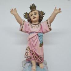 Arte: PRECIOSO NIÑO JESUS EN ESTUCO,POSIBLEMENTE TALLER OLOTINO. Lote 257732320