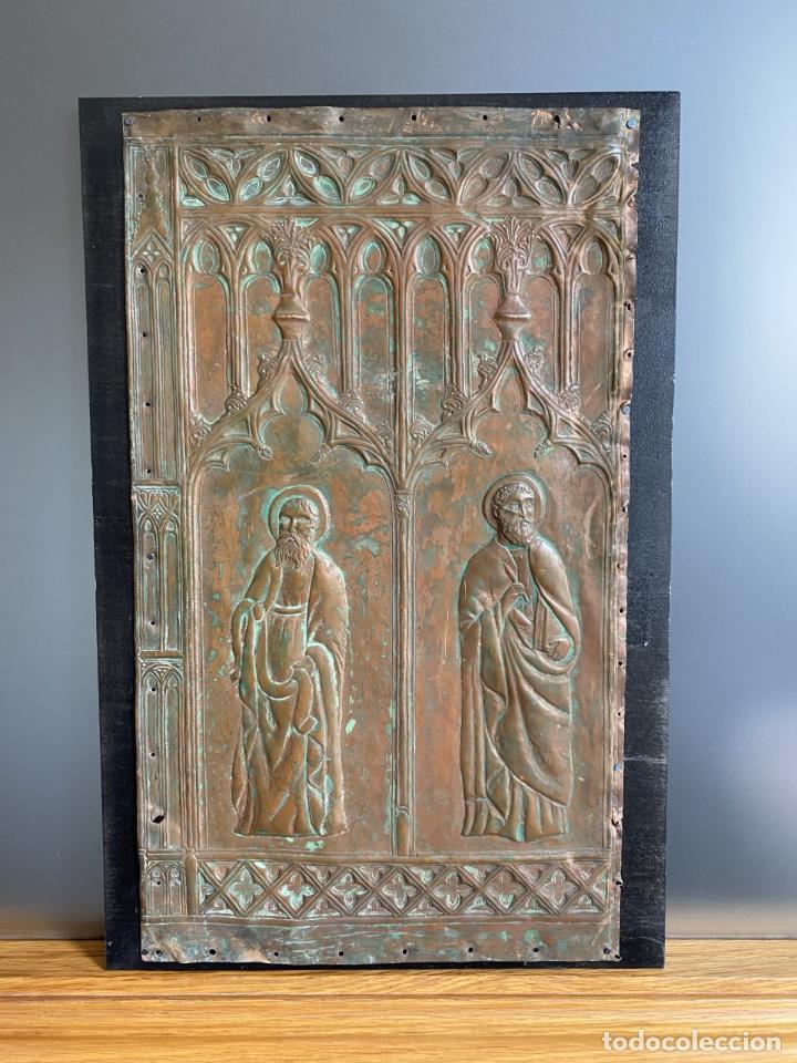 Arte: Cuatro santos, bajorrelieves góticos. - Foto 2 - 257881910