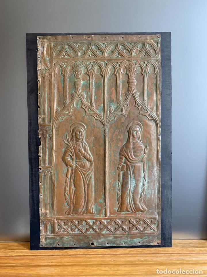 Arte: Cuatro santos, bajorrelieves góticos. - Foto 3 - 257881910