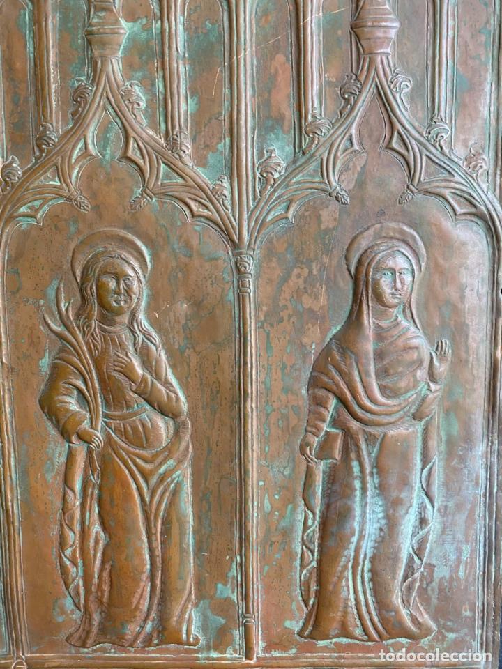 Arte: Cuatro santos, bajorrelieves góticos. - Foto 6 - 257881910