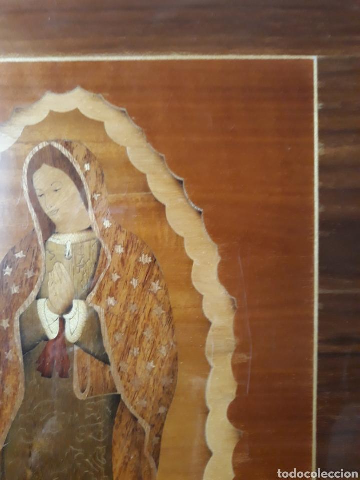 Arte: Cuadro antiguo en marquetería de la Virgen de Guadalupe. Gran detalle - Foto 8 - 258004360