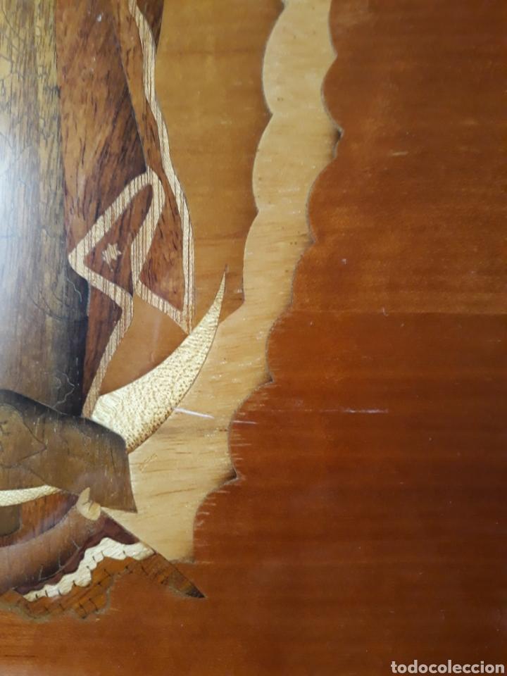 Arte: Cuadro antiguo en marquetería de la Virgen de Guadalupe. Gran detalle - Foto 10 - 258004360