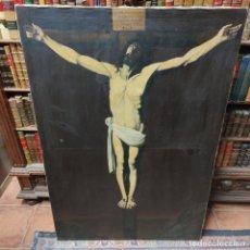 Arte: OLEO SOBRE LIENZO DE CRISTO EN LA CRUZ. COPIA DEL CRISTO DE ZURBARÁN. BUEN TAMAÑO. SIGLO XVIII-XIX.. Lote 258015385