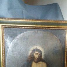 Arte: CRISTO ECCE HOMO ÓLEO SOBRE LIENZO SIGLO XVIII. Lote 267894134
