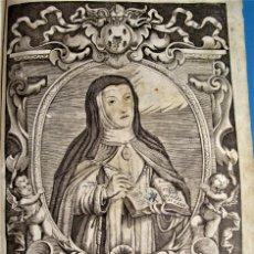 Arte: GRABADO SIGLO XVII DE SOR MARÍA JESÚS DE ÁGREDA.CONCEPCIONISTAS.. Lote 258116300