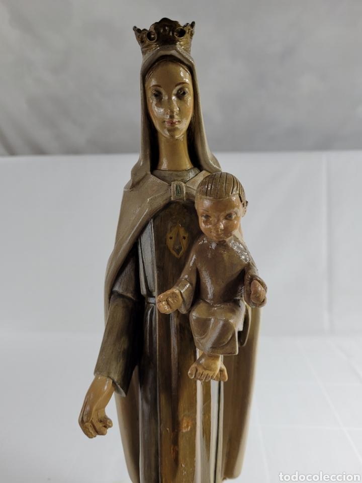 VIRGEN CON NIÑO POR CASA DIMOSA (OLOT) (Arte - Arte Religioso - Escultura)